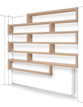 Woodmood biblioth ques - Bibliotheque en medium ...